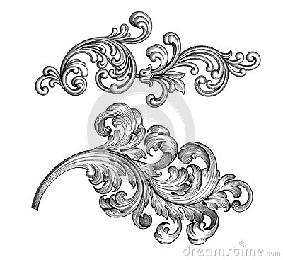 Free Vintage Baroque Victorian Frame Border Set Floral Ornament  Scroll Engraved Retro Pattern Tattoo Calligraphic Vector Heraldic Royalty Free Stock Photos - 109321418