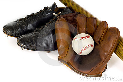 Vintage Baseball Equipment