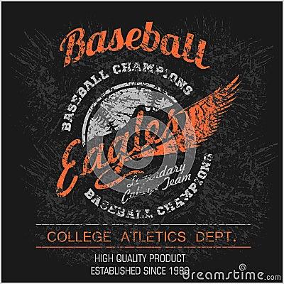 Vintage baseball logo, emblem, badge and design elements. Vector illustration Vector Illustration