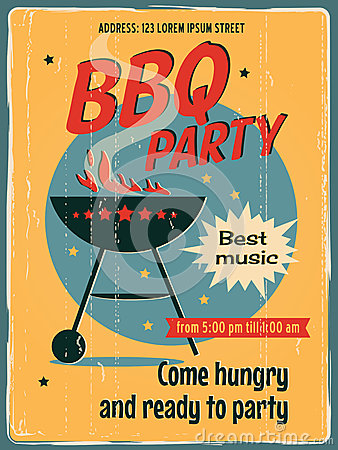 Free Vintage BBQ Grill Party Stock Photo - 40628910