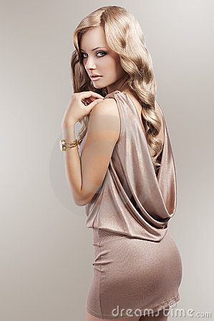 Free Vintage Beautiful Blonde Woman Royalty Free Stock Photos - 22664818