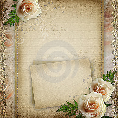 Vintage beautiful wedding background