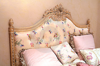 Vintage bed and pillows