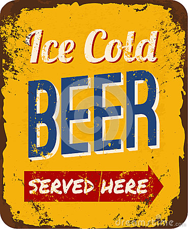 Free Vintage Beer Tin Sign Stock Images - 31847454