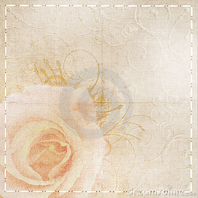 Vintage  beige wedding background