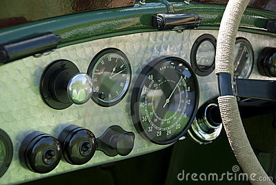Vintage Bentley dashboard