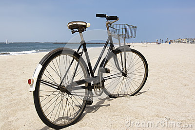 Vintage Bicycle on Beach
