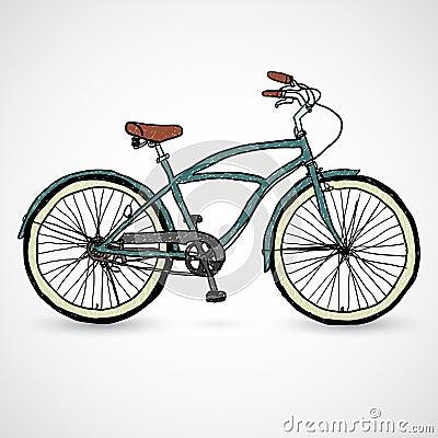 Vintage bicycle - vector illustration