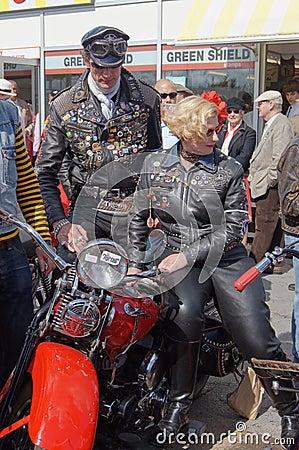 Vintage bikers Editorial Stock Image