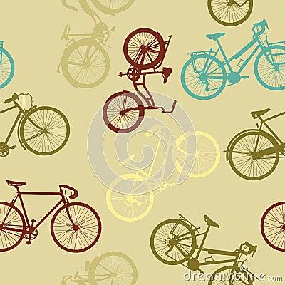 Vintage bikes pattern