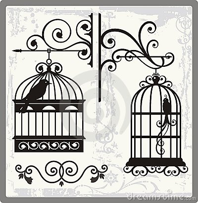 Free Vintage Bird Cages Stock Photography - 22326872