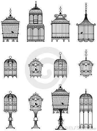 Free Vintage Bird Cages Royalty Free Stock Images - 23867359