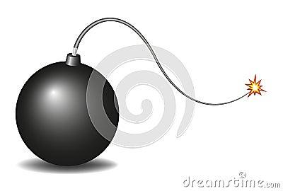 Vintage black bomb