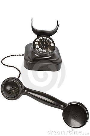 Free Vintage Black Phone Stock Photography - 19003912