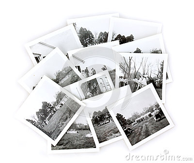 Vintage Black and White Photos Collage Editorial Photography