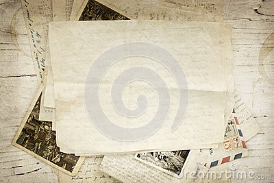 Vintage Paper Letters and Postcard