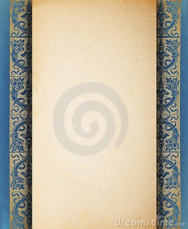 Vintage blank paper template
