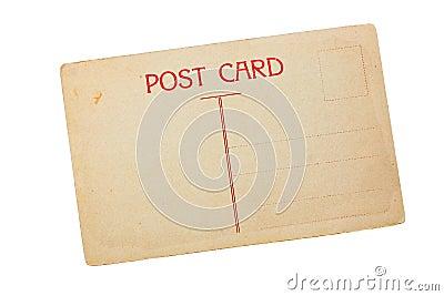 Vintage blank post card