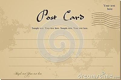 Vintage blank postcard. Vector