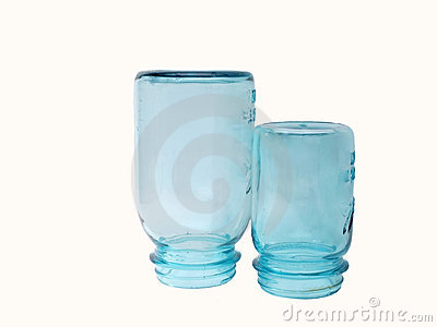 Vintage blue canning jars