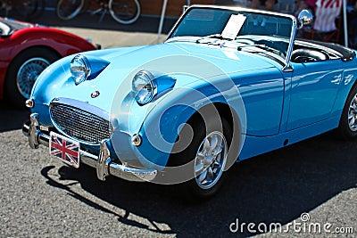 Vintage Blue Convertible Car