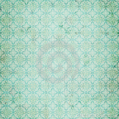 Free Vintage Blue Damask Repeat Pattern Stock Images - 20985934