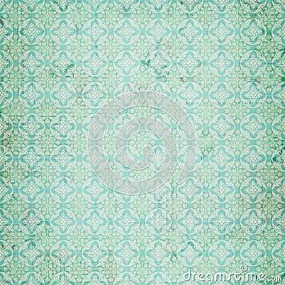 Vintage Blue damask repeat pattern