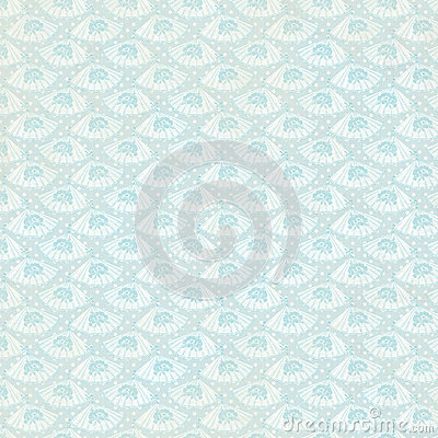 Vintage Blue Fan Background repeat wallpaper Stock Photo