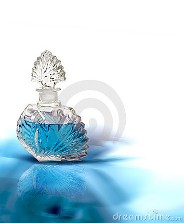 Free Vintage Blue Perfume Stock Photography - 1920012