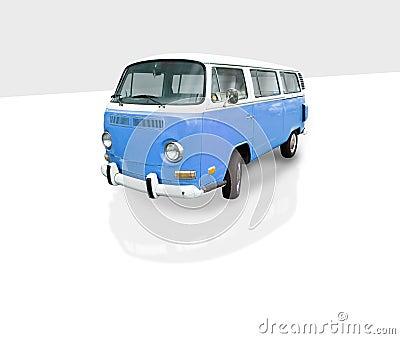 Vintage blue van
