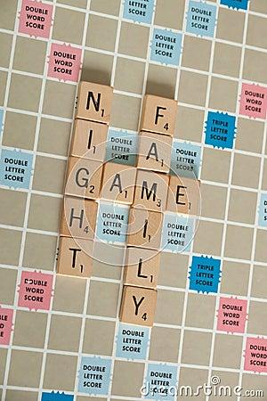 Free Vintage Board Games - Scrabble Stock Image - 128360471