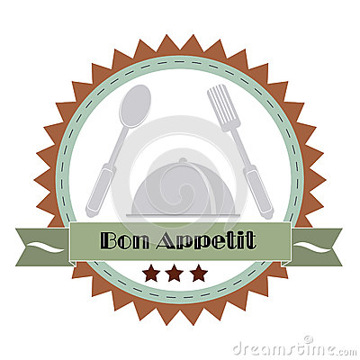 Free Vintage Bon Appetit Poster . Vector Illustration. Stock Photography - 44184502