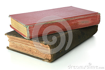 Vintage Books Over White Background