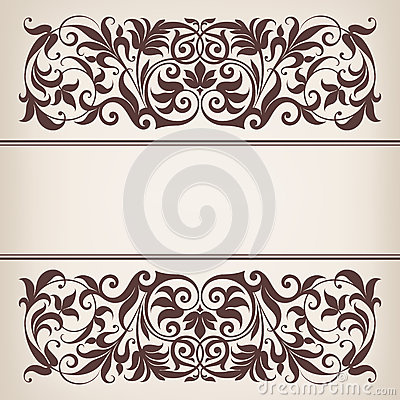 Free Vintage Border Frame Decorative Ornate Calligraphy Vector Royalty Free Stock Photography - 29627647