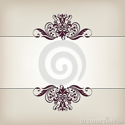 Free Vintage Border Frame Decorative Ornate Calligraphy Vector Royalty Free Stock Photography - 39989737