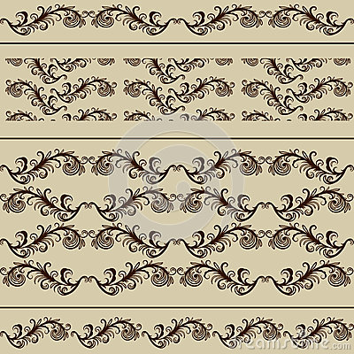 Vintage Borders and Seamless Patterns