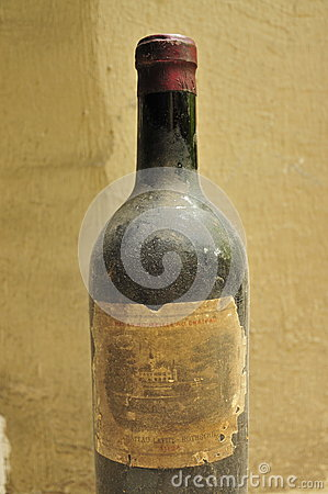 Vintage bottle of wine Editorial Photography