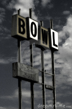 Free Vintage Bowling Sign (grunge) Stock Photography - 23612