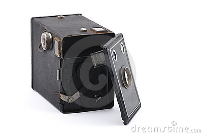 Vintage box camera on repair