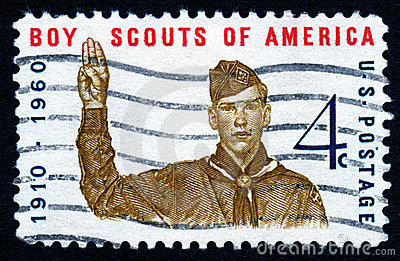 Vintage Boy Scouts Usa Stamp Royalty Free Stock Images