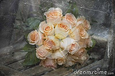 Vintage bride bouquet
