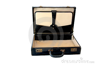 Vintage Briefcase on White