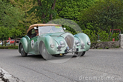 Vintage British Car Healey Westland Roadster 1948 Runs In Rally
