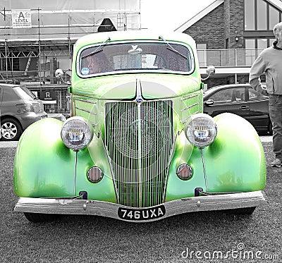 Vintage british ford car Editorial Stock Photo