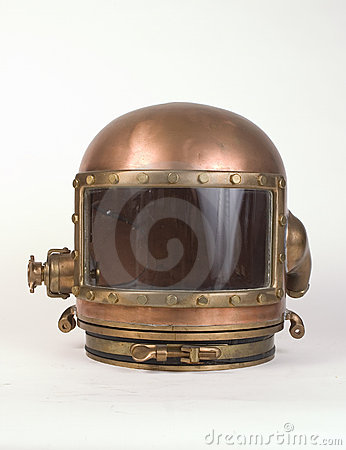 Vintage Bronze Diving Helmet Two