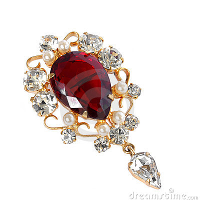 Free Vintage Brooch Stock Photography - 12432472