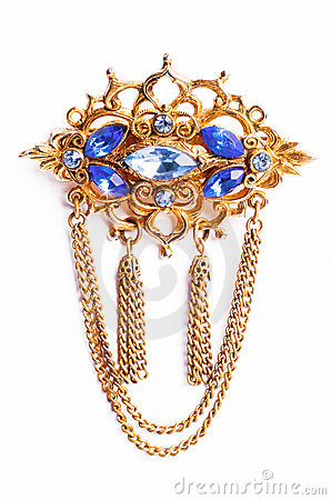 Free Vintage Brooch Royalty Free Stock Image - 13744186