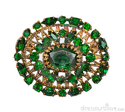 Free Vintage Brooch Royalty Free Stock Photography - 18724977