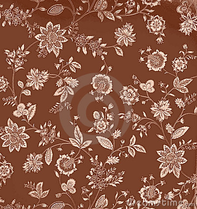 Vintage Brown Floral Background