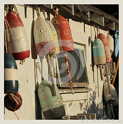 Free Vintage Buoys Royalty Free Stock Images - 47931809